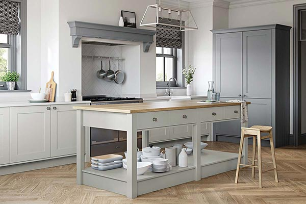 Light Grey & Dust Grey Kitchen